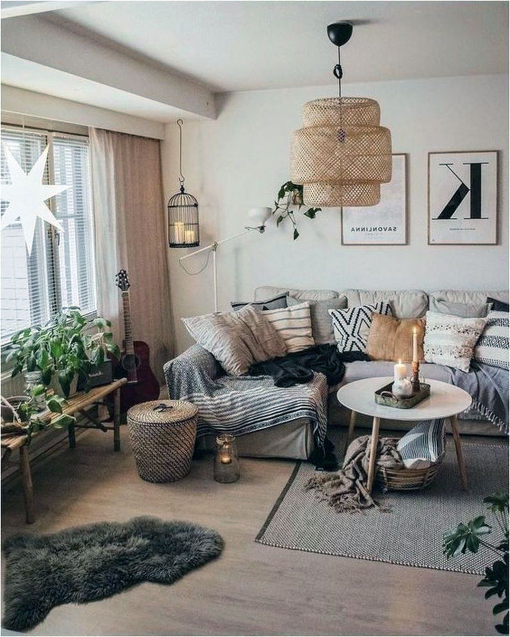 28 Marvelous Scandinavian Living Rooms With Boho Style Ideas#boho #ideas #living #marvelous #rooms #scandinavian #style