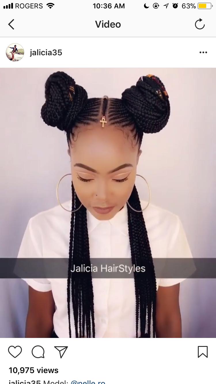 Pin by Amariya Billings on Braids and hair Pinterest Black girls