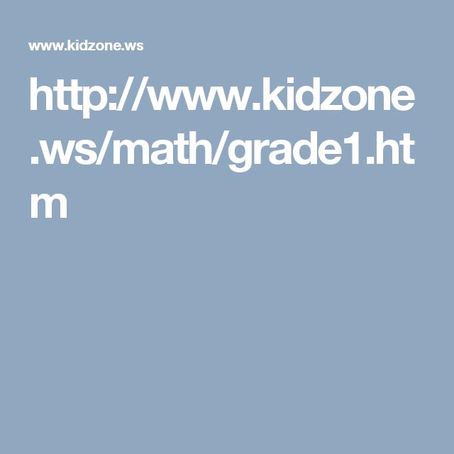 http://www.kidzone.ws/math/grade1.htm | ELL resouces | Pinterest ...