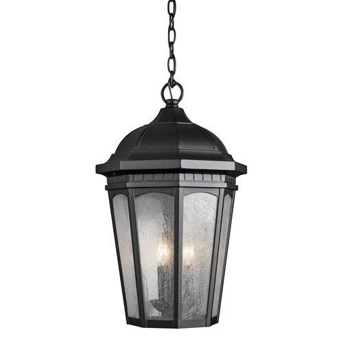 Kichler Courtyard 3 Light Outdoor Pendant - Black