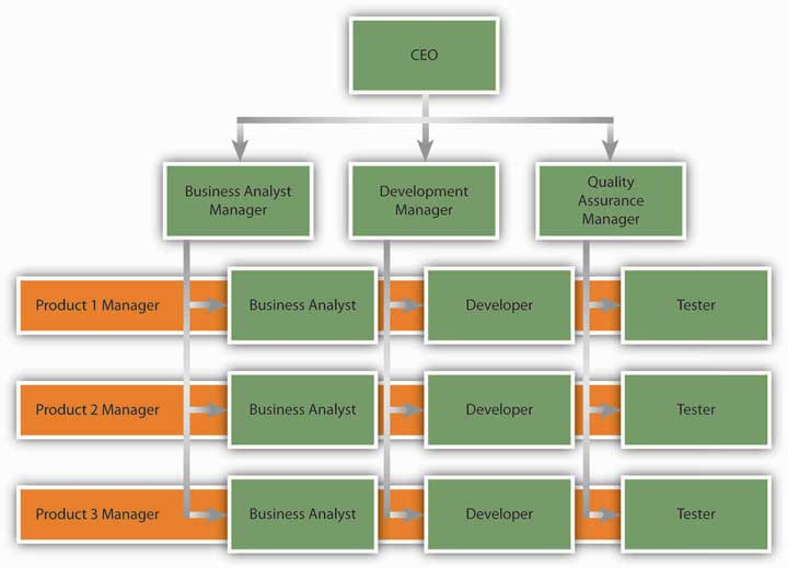 Sample 4: Simple Matrix Organization | IT Organizational Structure ...