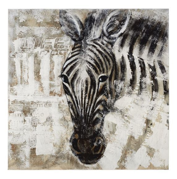 Keilrahmenbild im Zebra-Design - Wildnis fürs Wohnzimmer