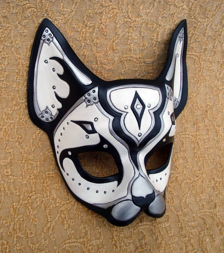 Black and White Persian Cat Mask by *merimask on deviantART