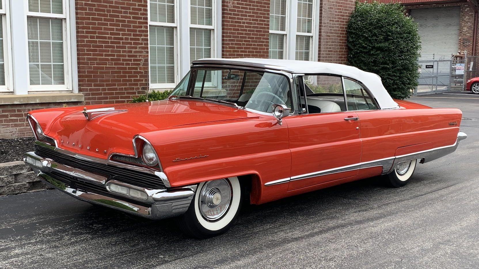 1956 Lincoln Premiere Convertible Presented As Lot F140 At Denver Co Convertible Pontiac Catalina Convertible Top