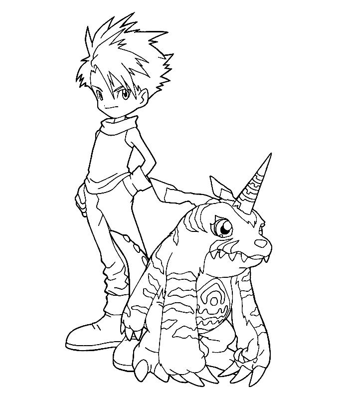 Digimon Coloring Pages Digimon Coloring Pages Free