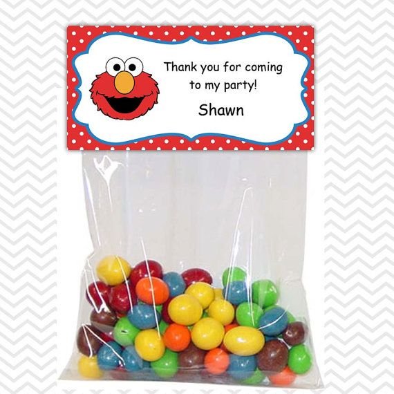 Elmo Sesame Street - Personalized DIY Printable Bag Topper Treat Topper Food Tent on  sc 1 st  Pinterest & Elmo Sesame Street - Personalized DIY Printable Bag Topper Treat ...