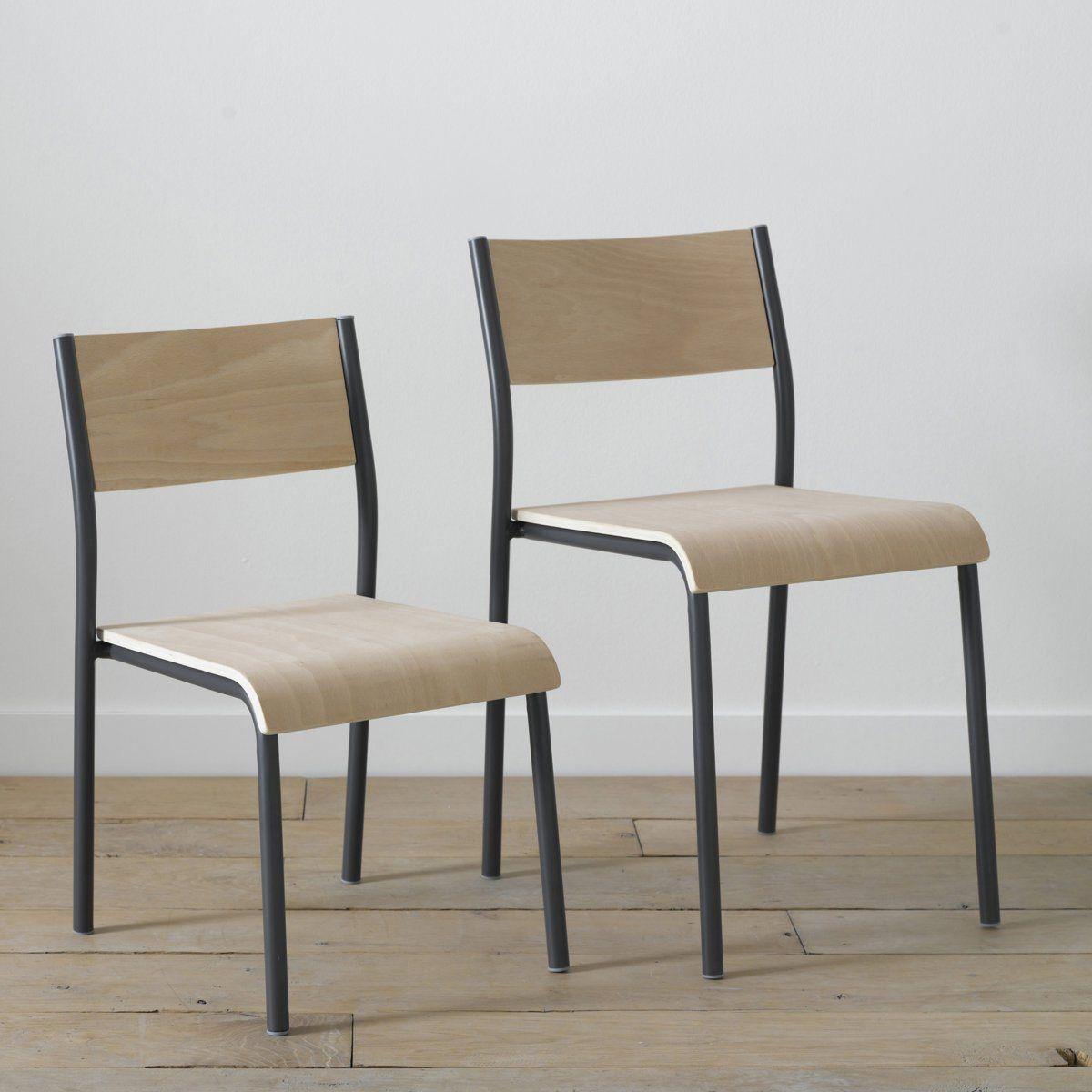 Chaise Schola 2 Tailles Am Pm La Redoute Mobilier De Salon Chaise Chaise Design