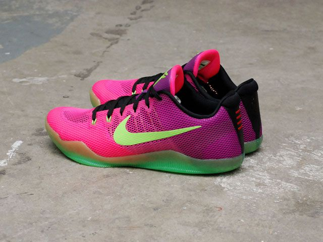 Nike Kobe 11 XI EP Mambacurial Pink Flash Red Plum Action Green (836184-635