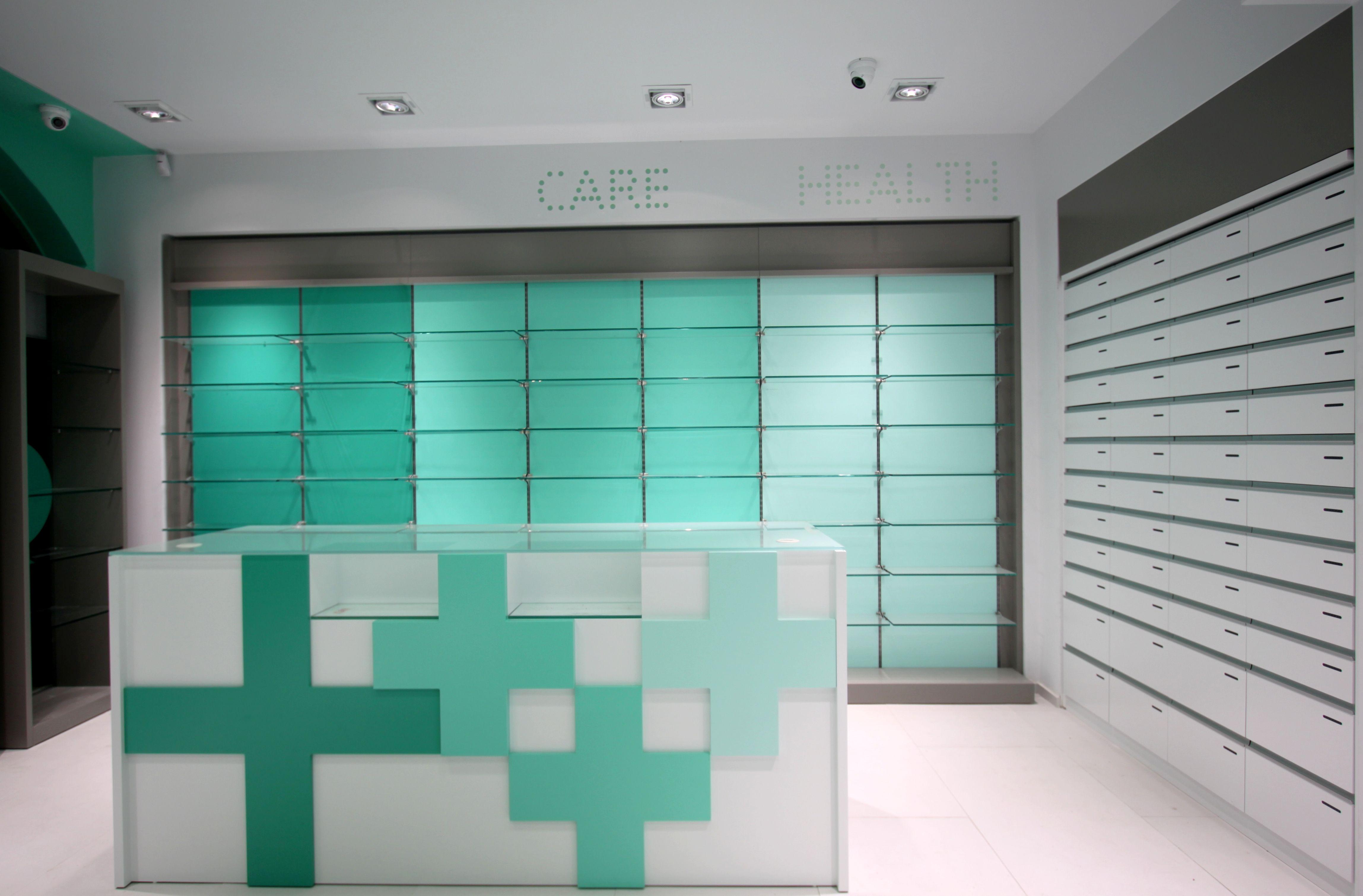 Pharmacy counter crossdesign tsoumanis pharmacy design - Commercial interior design codes ...