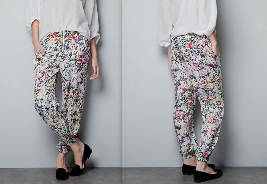Zara flower pant