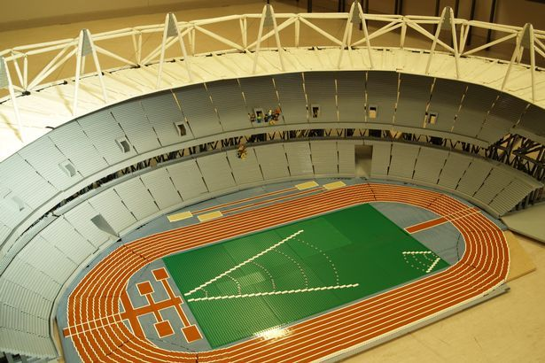 On your marks, get set, LEGO! Fans build replica of London's Olympic ...