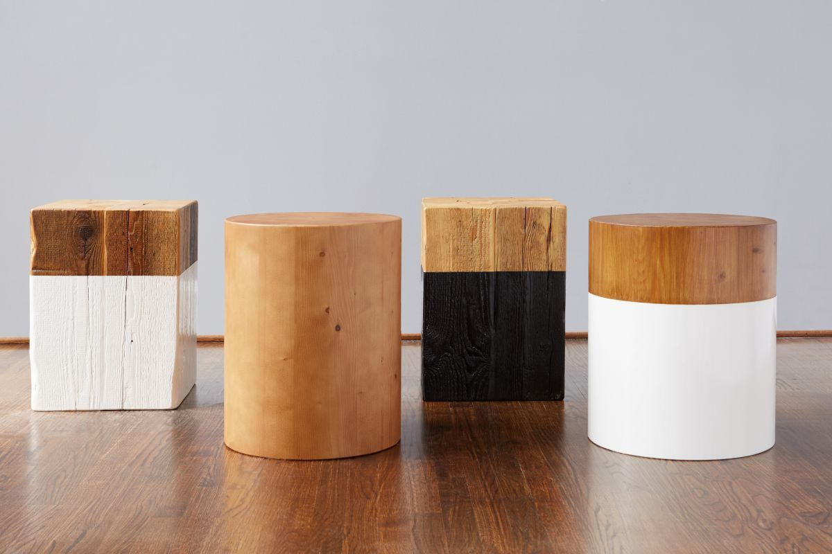 Remarkable Round Mod Block Stool White F U R N I S H I N G S In 2019 Pabps2019 Chair Design Images Pabps2019Com