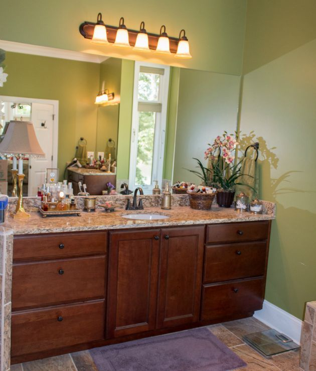 This But With Double Sinks. Beautiful Kabinart Bathroom Vanity Shown In  Cottage Cherry Honeywood Chocolate. Design By Chester County Kitchen U0026 Bath