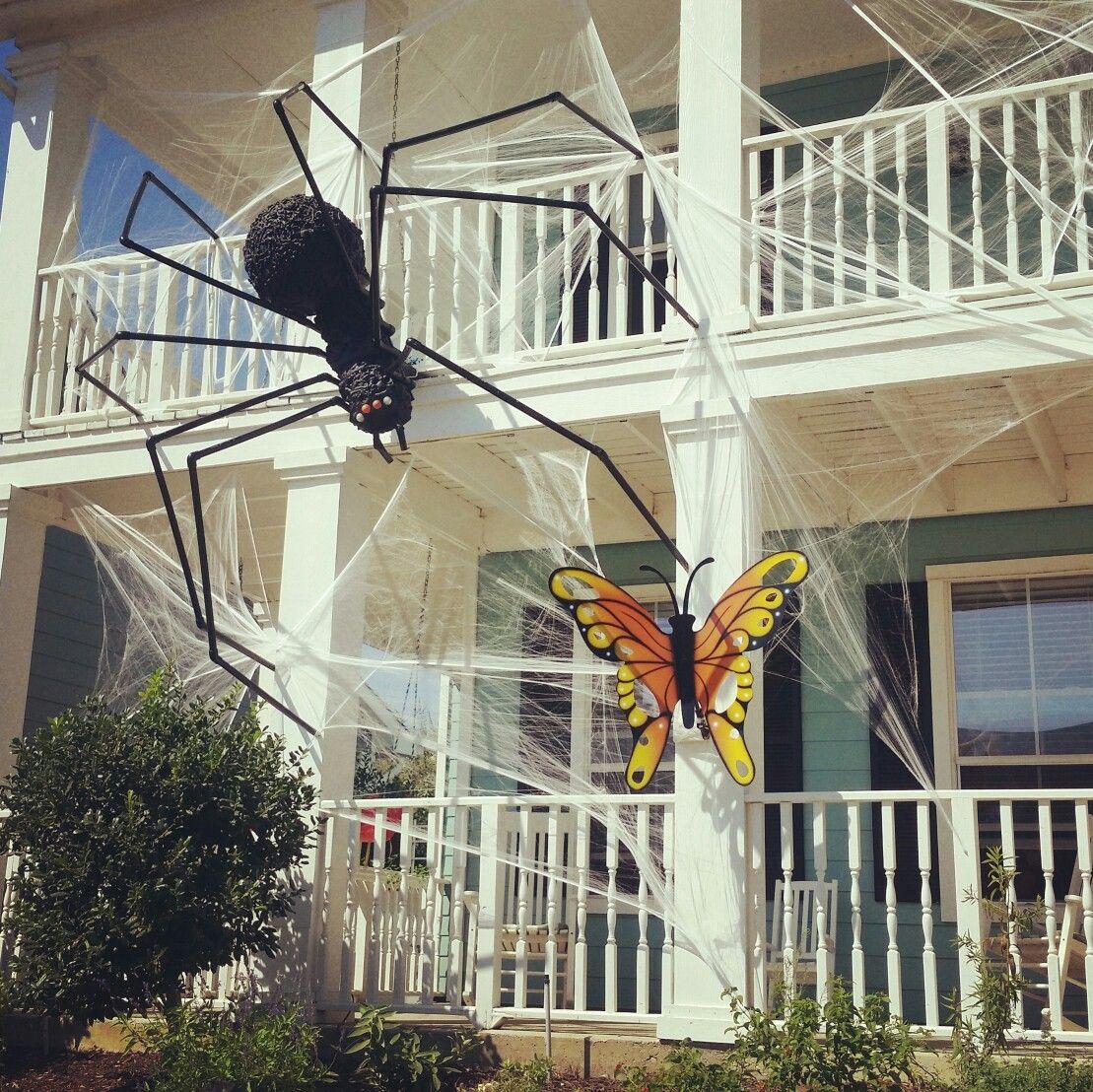 Halloween 2016 Exterior Home Decorations Giant Spider Haunted House Halloween Spider Decorations Halloween Outdoor Decorations Halloween Spider