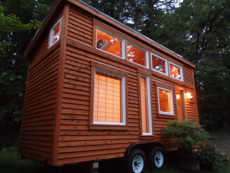 Teatime For A Tiny Portable Home In Oregon Tiny House Loft Tiny House Towns Tiny House On Wheels