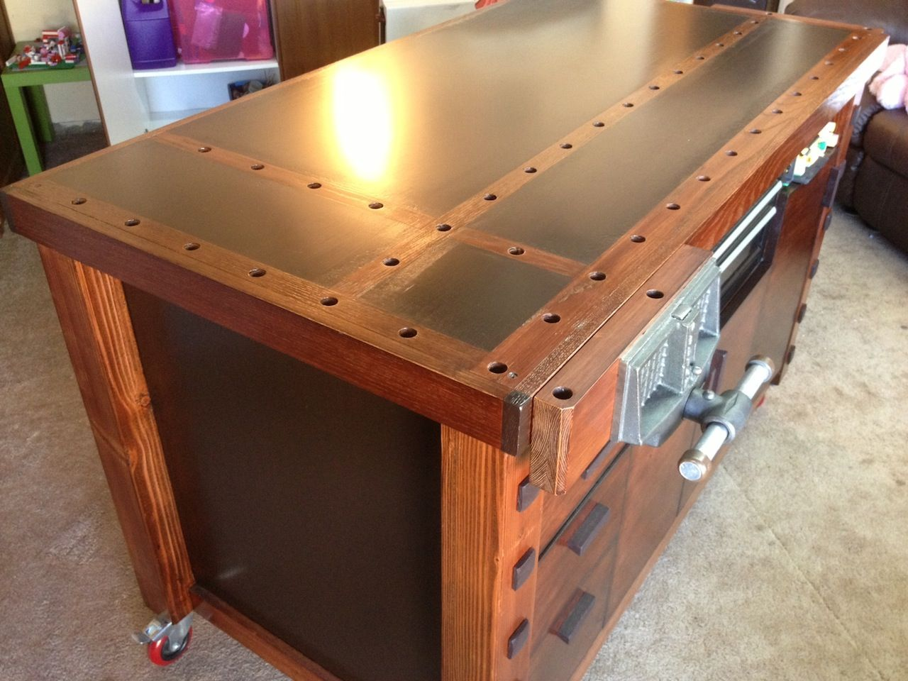 Assembly Tables Workstations : Workbench assembly table woodworking pinterest
