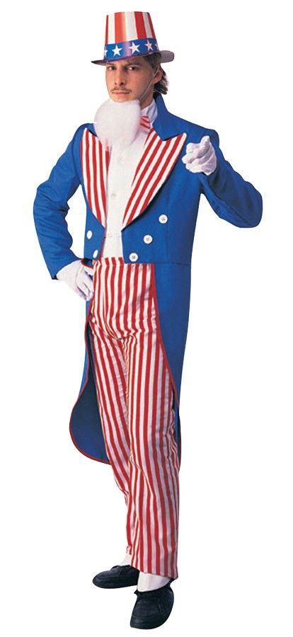 Uncle Sam Adult Costume with white shirtfront tailcoat and pants. | Costumes.com.au  sc 1 st  Pinterest & Uncle Sam Adult Costume | Costumes Buy costumes and Costume shop