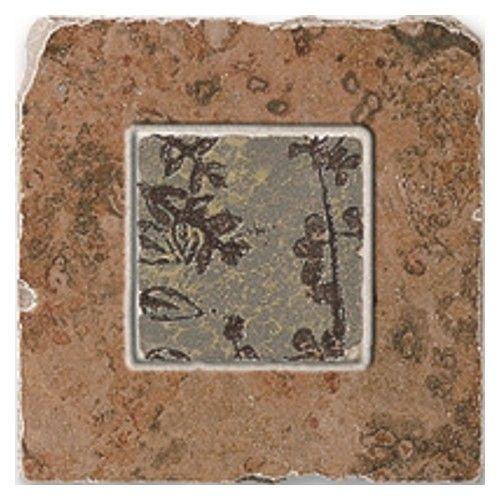 Indian Stone 6.5 x 6.5 - Autumn Rust Insert Bronze