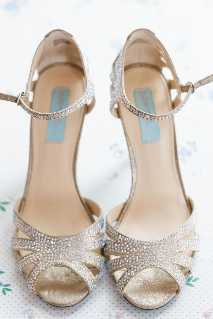 Champagne Bridal Heels Sparkly Wedding Shoes Bridal Shoes Bride Shoes