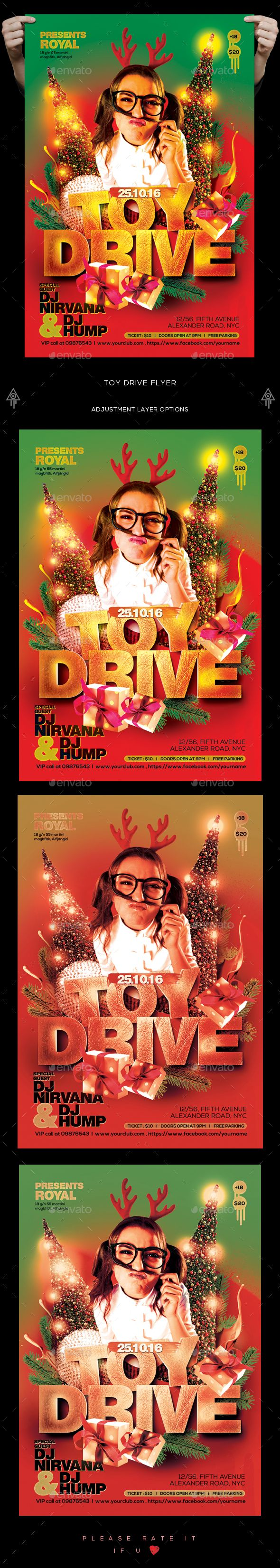 toy drive flyer toy flyer template and typo