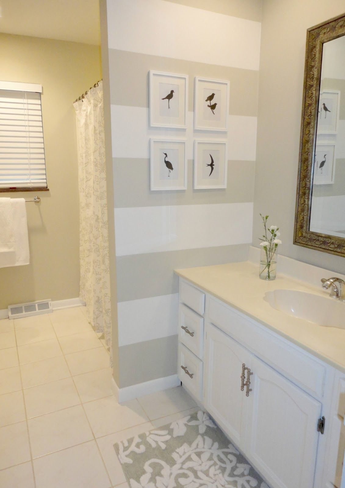 How to update a bathroom using only paint! Great tips in this post ...