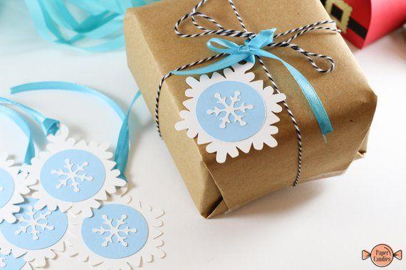 Handgemachte Geschenkanhänger mit Schneeflocken | Satz von 6 | Winterwunderland und Weihnachten   – ACTIVITIES FOR VACATION