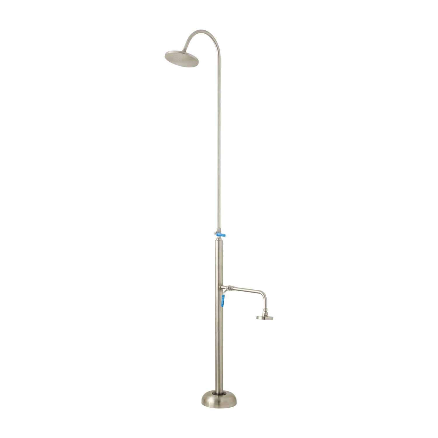 Marlin Stainless Steel Outdoor Shower with Foot Shower | Steel, Pool ...