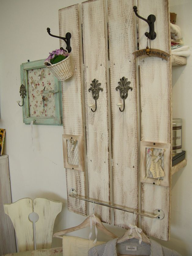garderoben die universal shabby garderobe ein designerst ck von atelier nr13 bei dawanda. Black Bedroom Furniture Sets. Home Design Ideas