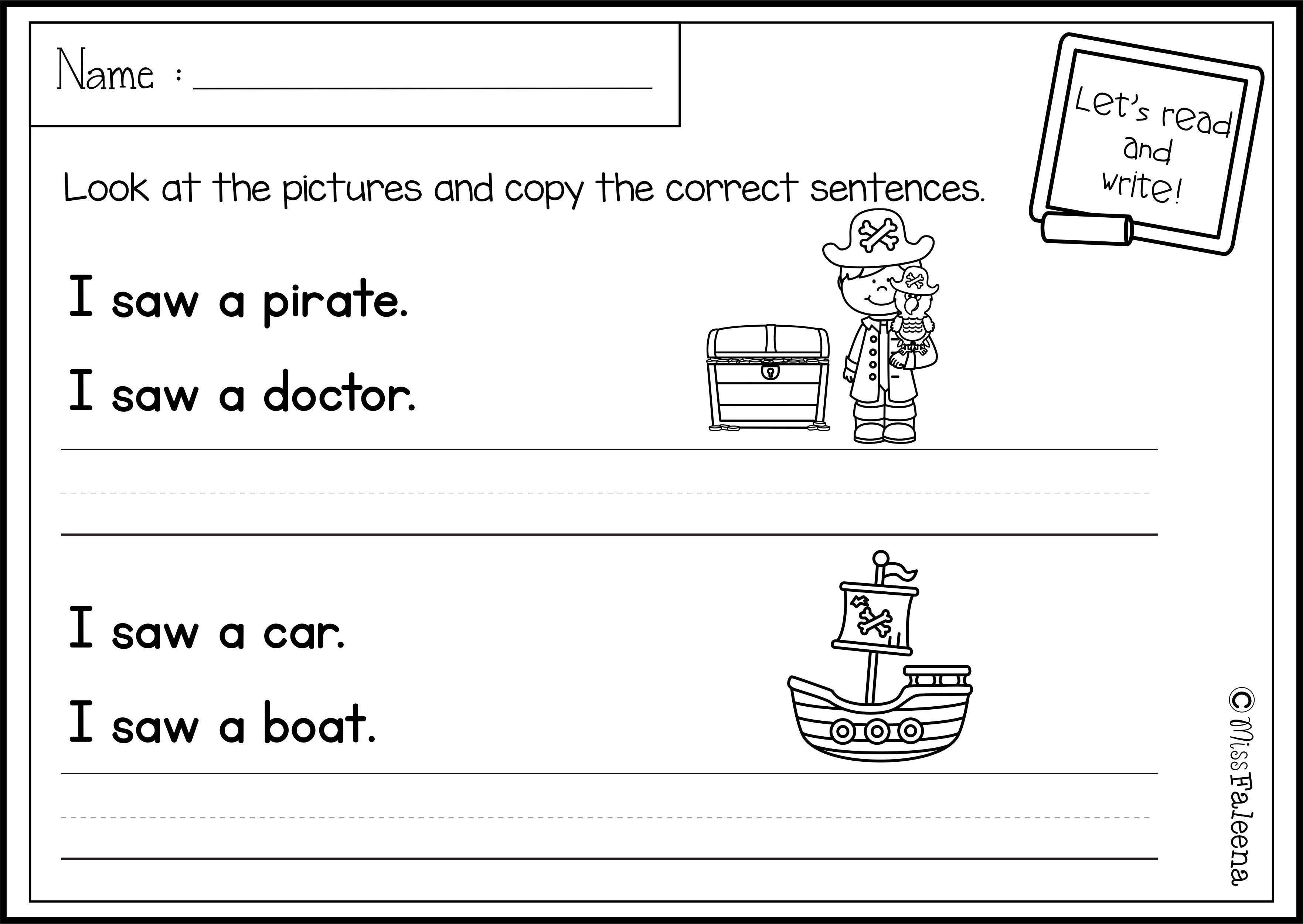 medium resolution of July Sentence Writing has 20 pages of copy the correct sentence. These  pages are great for pre-K