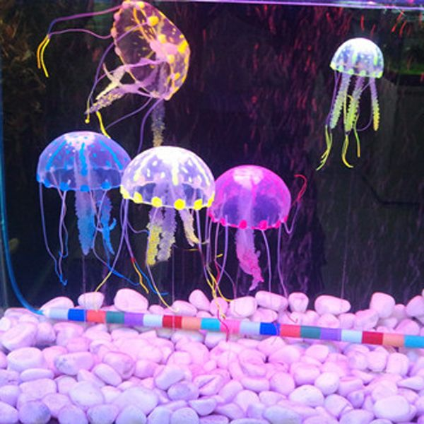 Wholesale Glowing Artificial Silicone Vivid Jellyfish For
