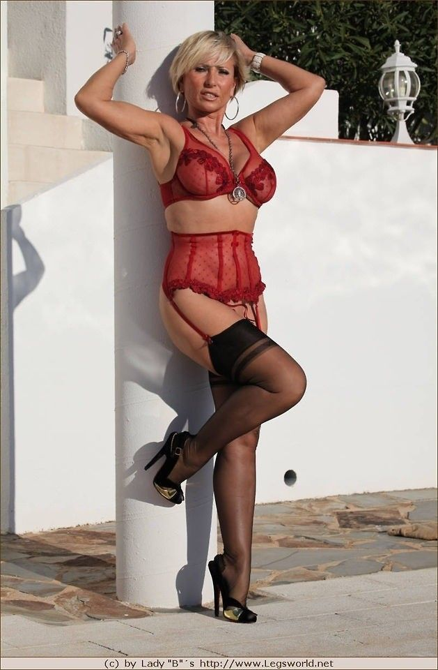 pinterest Mature lingerie stocking sexy