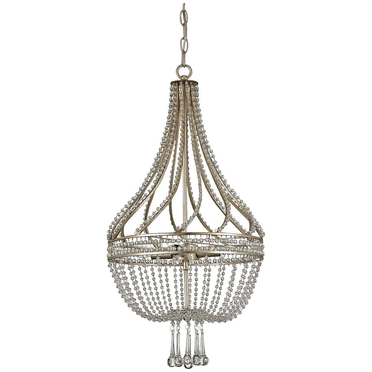 kichler silver chandelier free glass steel shipping cordova overstock light leaf garden lighting product home collection today