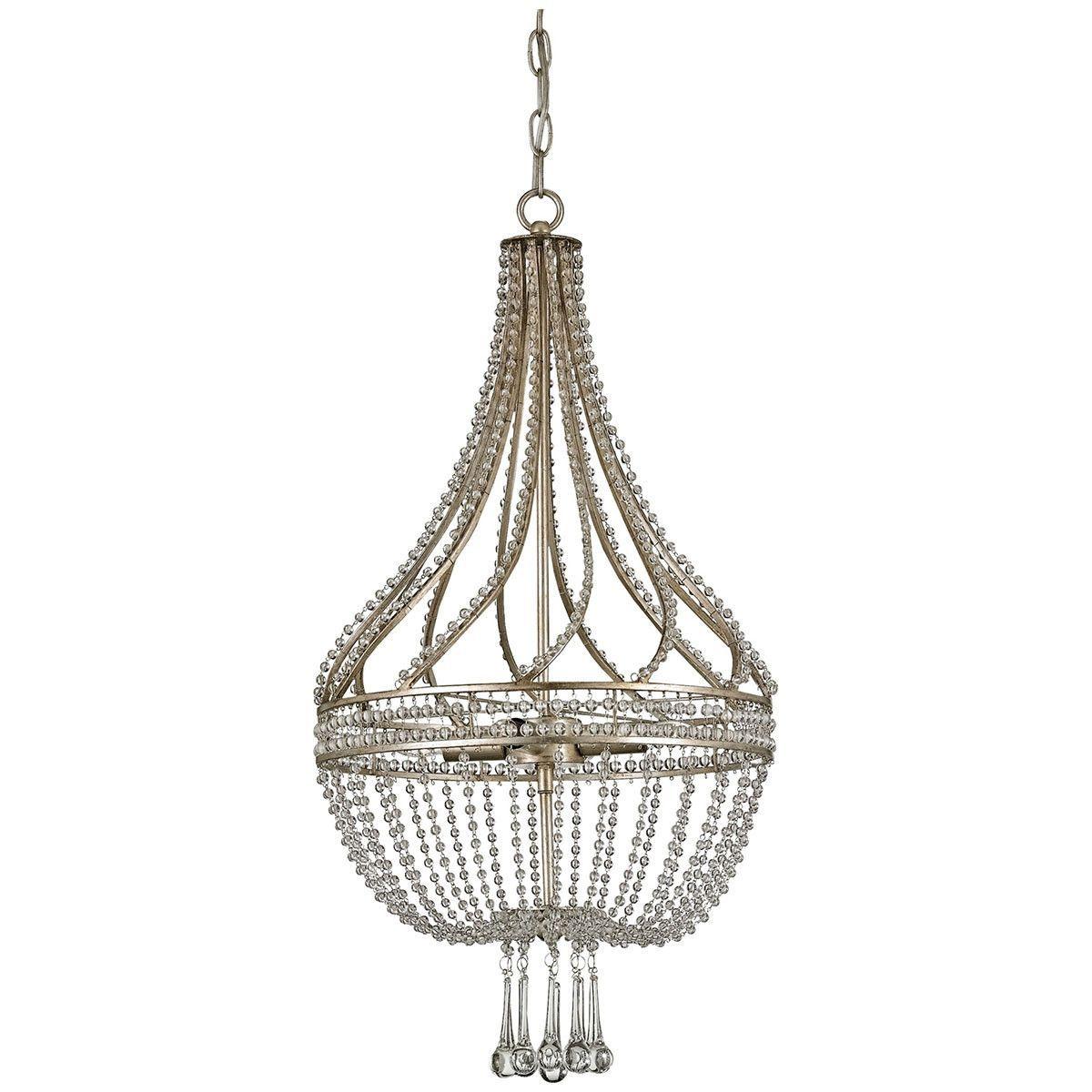large bubble pelle leaf chandelier silver product