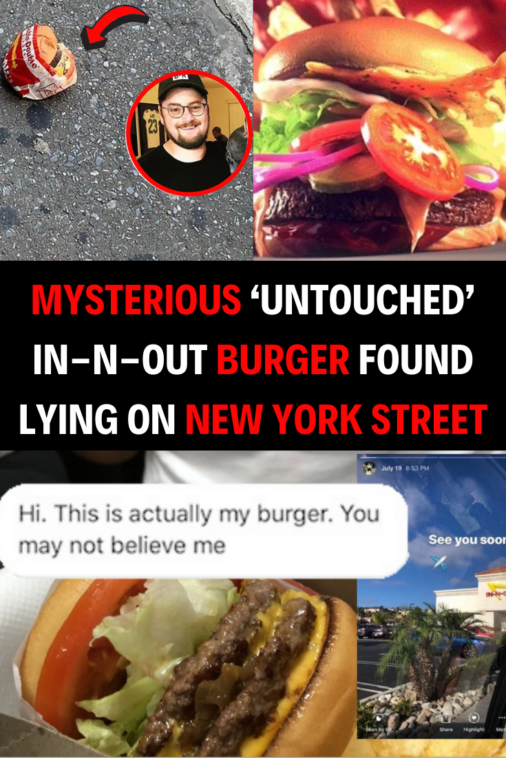 Mysterious 'Untouched' In-N-Out Burger Found Lying on New