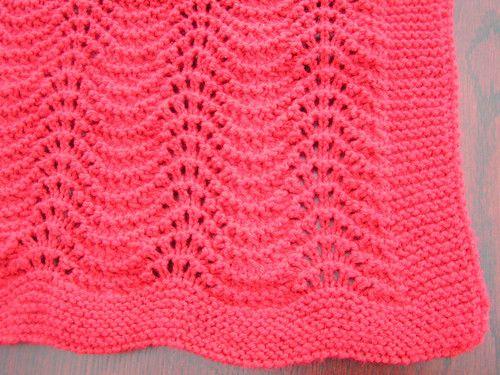 3.65Easy to knit Wavy baby blanket pattern in DK | eBay | Crochet ...