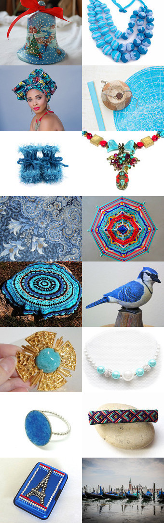 Blue and turquoise dreams ... by Olga Tarasova on Etsy--Pinned with TreasuryPin.com
