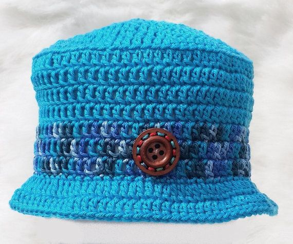 Check out Hand crocheted boys bucket hat 12-18 18-24 24-36 months old e5d1b36f58f