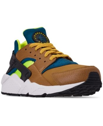 1f4077afc5743 Nike Men s Air Huarache Run Running Sneakers from Finish Line - Yellow 10.5