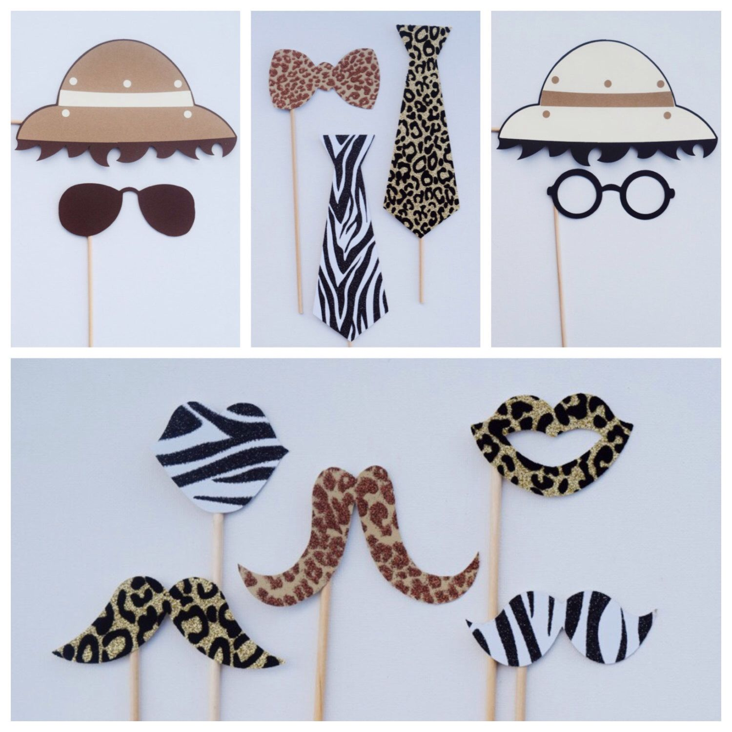 Décoration Safari Anniversaire Safari Photo Booth Props Animal Print Party Decor