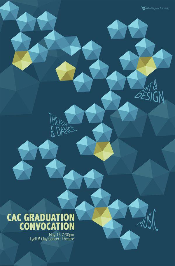 Graduation Convocation Event Poster Design  WVU College of Creative Arts