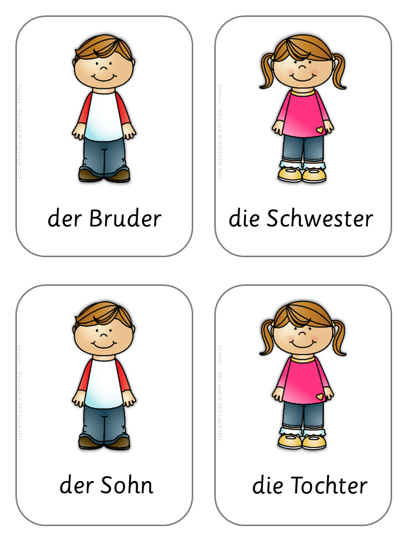 German Flash Cards - Basic Vocabulary | Teaching Mina | Pinterest ...