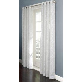 Allen Roth Anaheim Sheer Curtain 84 In L Geometric White Grommet Sheer  Curtain