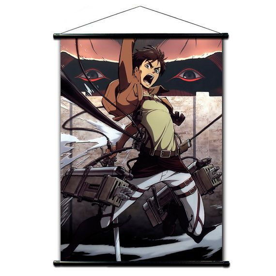 Poster Anime, Wand Scroll Anime Radiozeit Keine Kyojin, Wand Dekor  Japaneses Farben,