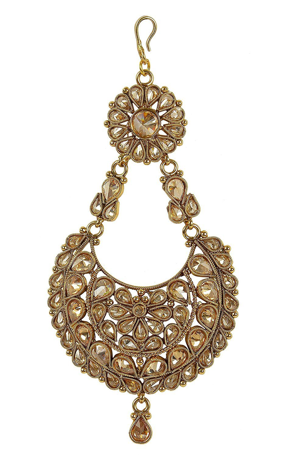 Muchmore Girl\'s Style Traditional Stylish Gold Tone Jhumar Style ...
