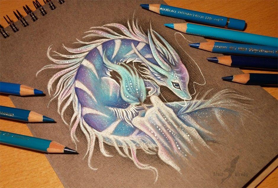 Maybe an ice dragon?   Dragon art, Drawings, Art