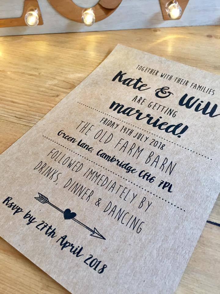 Sample \'Emilia\' Personalised Wedding Invitations Evening Invite ...