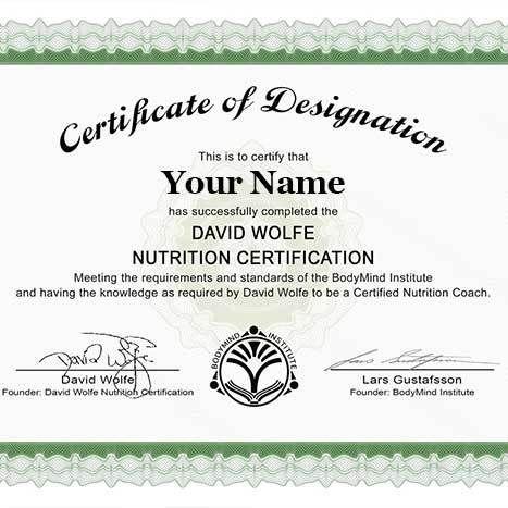 David Wolfe Nutrition Certification | BodyMind Institute | Goddess ...
