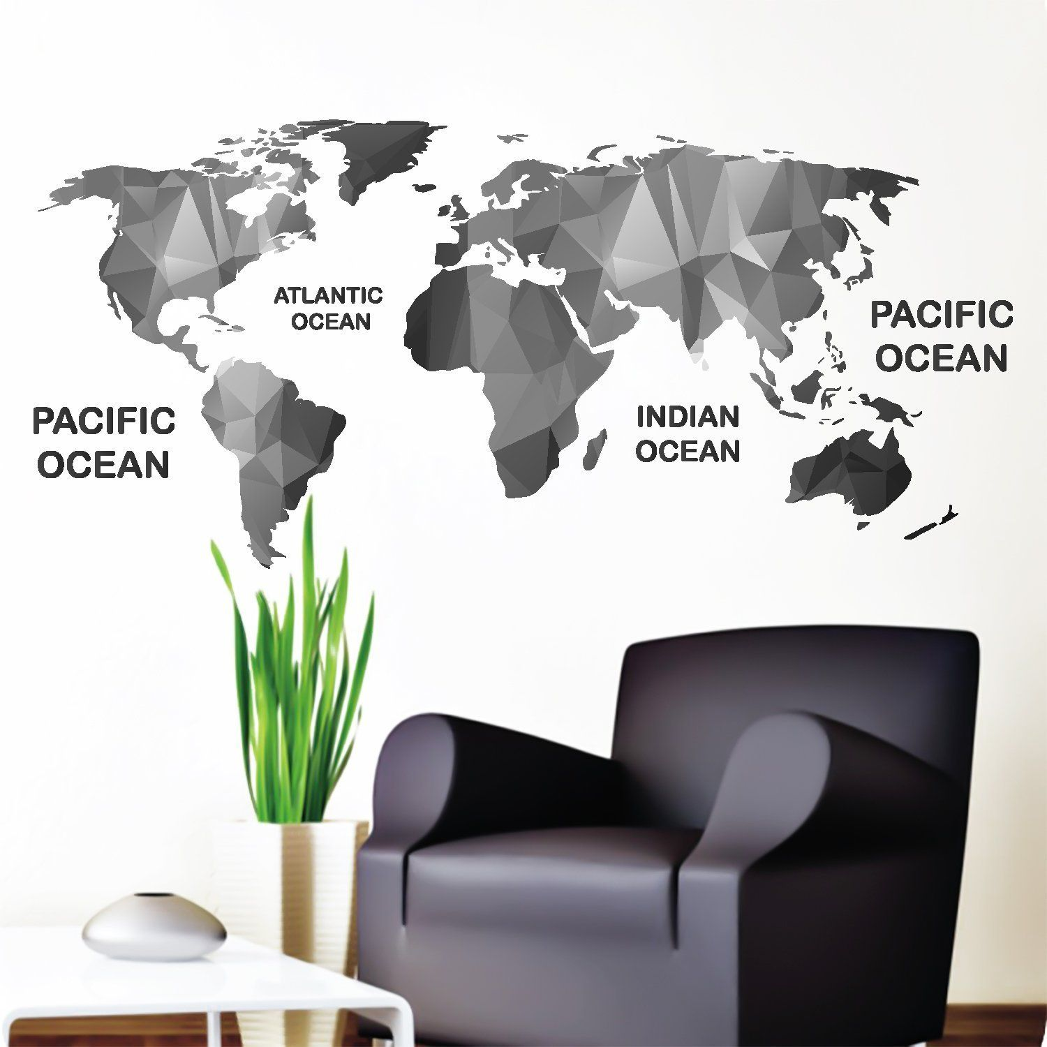 Amazon wall decals world map colored multicolored vinyl amazon wall decals world map colored multicolored vinyl stickers map colorful decal for bedroom office decor dd111 home kitchen gumiabroncs Choice Image