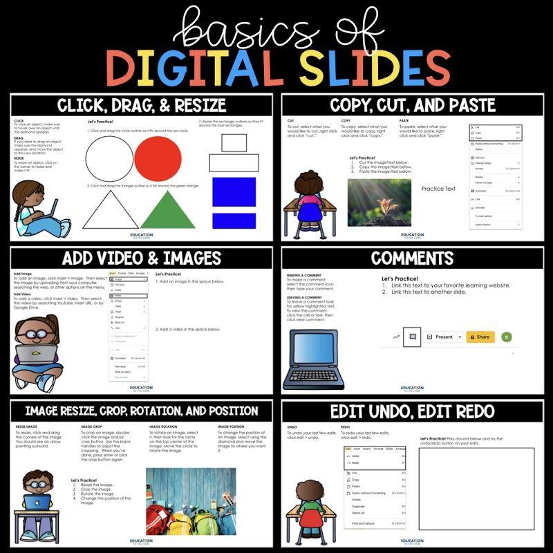 Basics Of Google Slides Digital Freebie Google Classroom Assignments Google Classroom Google Classroom Activities