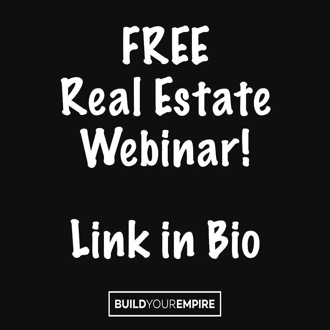 Link in our bio Free Real Estate Webinar by Million Dollar Listings ...